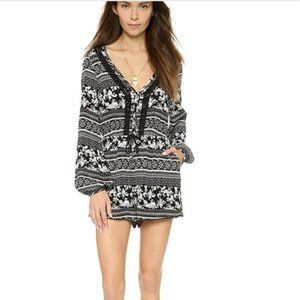 House of Harlow 1960 Ainsley Button Front Romper